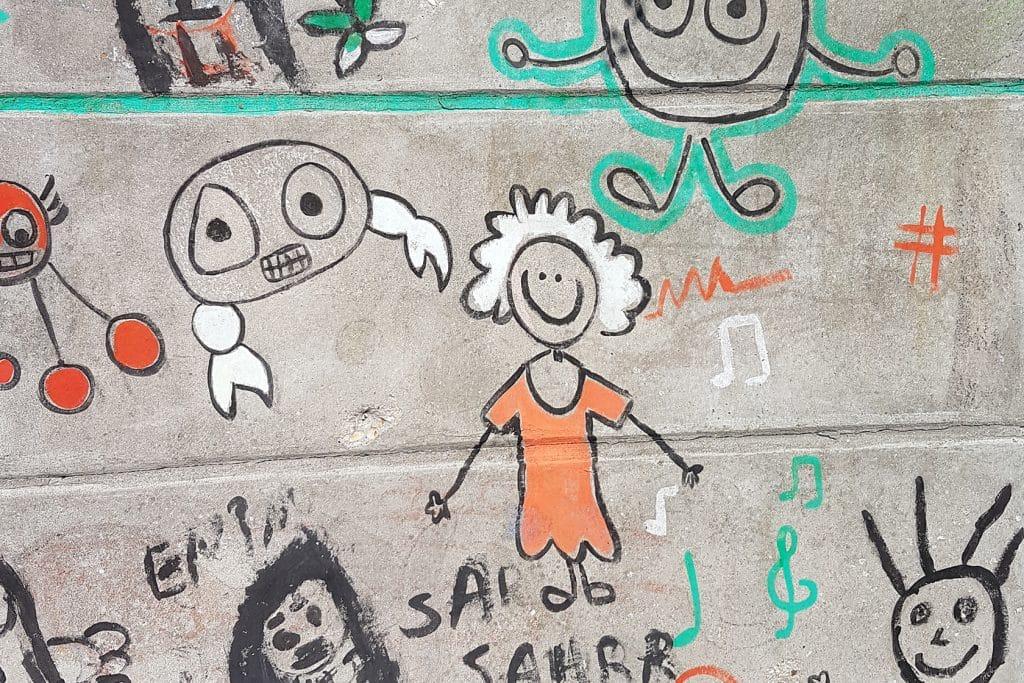 Équipe - graffiti - École Expérimentale de Bonneuil